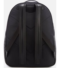 emporio armani men's nylon backpack - grey/black