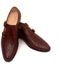 handmade monk wavy leather shoes, dress formal boots office brogue shoes men new