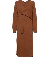 silvia dress maxiklänning festklänning brun designers, remix