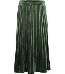 clara velvet skirt knälång kjol grön just female