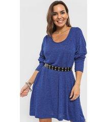 vestido azul minari lanilla bucle