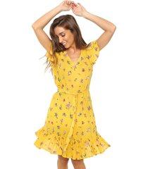 vestido amarillo new liza