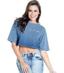 t- shirt cropped 100% algodão colcci p