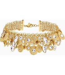 collana nemesia, multicolore, placcato oro