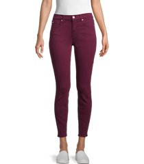 7 for all mankind women's gwenevere mid-rise ankle skinny jeans - marsala - size 32 (10-12)