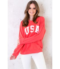 usa sweater dames koraal oranje