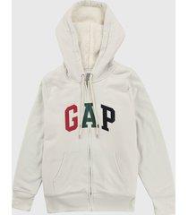chaqueta blanco-multicolor gap