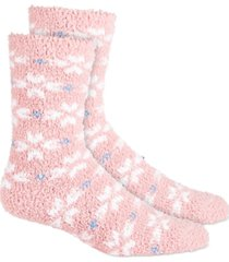 charter club printed super-soft cozy socks, created for macy's