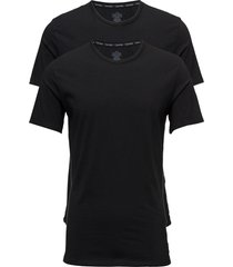2p s/s crew neck t-shirts short-sleeved svart calvin klein