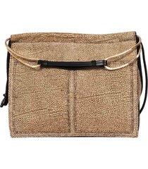 borbonese medium centerfold hobo bag