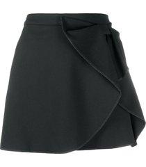 redvalentino bow-detail mini skirt - black