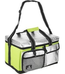 bolsa térmica lunch box verde - acte sports - m