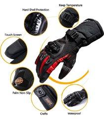 guantes suomy impermeables para motos - rojo