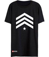 camiseta vinteseis army - sargento preta