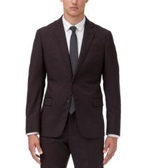 armani exchange men's modern-fit burgundy suit jacket separate