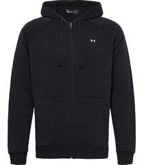 ua rival fleece fz hoodie hoodie trui zwart under armour