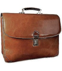 l.a.p.a. designer travel bags, classic sand leather briefcase
