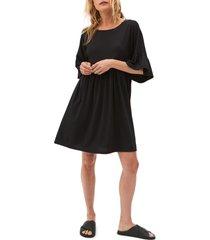 women's michael stars lola ruffle sleeve shift dress, size small - black