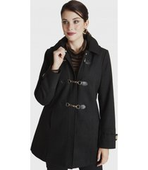 abrigo manga larga con gorro negro curvi