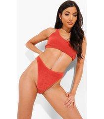 badstoffen mix & match bikini broekje, rust