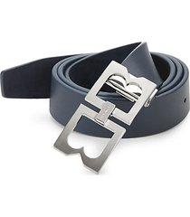 double-buckle leather belt