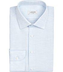 camicia da uomo su misura, canclini, azzurra pinpoint, primavera estate | lanieri