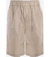 jil sander cotton shorts with patch pocket