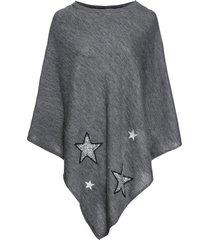 poncho con stelle di paillettes (grigio) - bpc bonprix collection