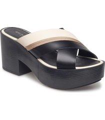 high heel slip in shoes summer shoes heeled sandals svart ilse jacobsen