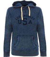 sweater jack jones leon vintage sweatshirts mens blauw