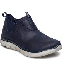 womens flex appeal 2.0 - d deal - waterproof shoes boots ankle boots blå skechers