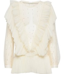 natasha top blouse lange mouwen crème ida sjöstedt