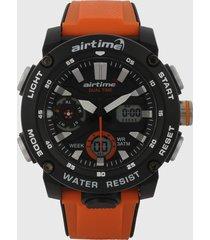 reloj negro-naranja virox