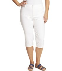 gloria vanderbilt women's plus size amanda trouser capri