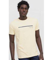 camiseta aleatory lettering amarela