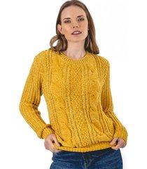 sweater acuario amarillo guinda