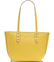 dkny duane north south leather tote