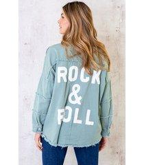 rock n roll jacket mintgroen