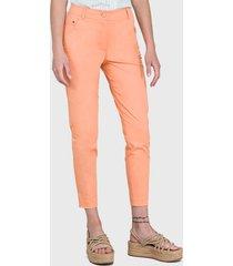 pantalón io básico gabardina rosa - calce ajustado