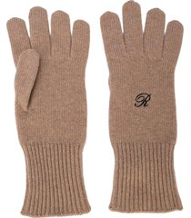 logo knit heroes gloves
