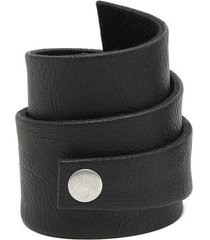 pulsera de mujer negro fascia small  leather collection vestopazzo