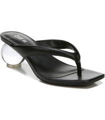 bar iii corteta thong ball-heel sandals, created for macy's women's shoes