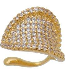 piercing de pressã£o lua mia joias maxi banho ouro - dourado - feminino - dafiti