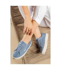tênis lançamento feminino casual moda blogueira zoccolette sapatenis azul