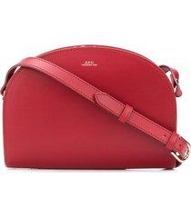 a.p.c. demi-lune crossbody bag - red