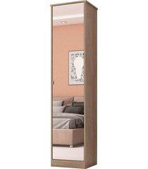 armário multiuso 1 porta reflex nogal touch demobile