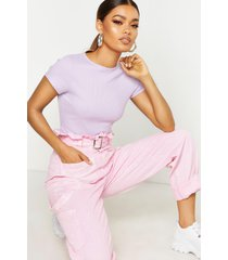 basic ribbed t-shirt, lilac