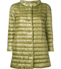 herno funnel neck padded jacket - green
