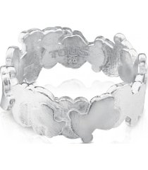 anillo hill de plata plateado tous