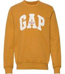 gap logo fleece crewneck sweatshirt sweat-shirt tröja gul gap